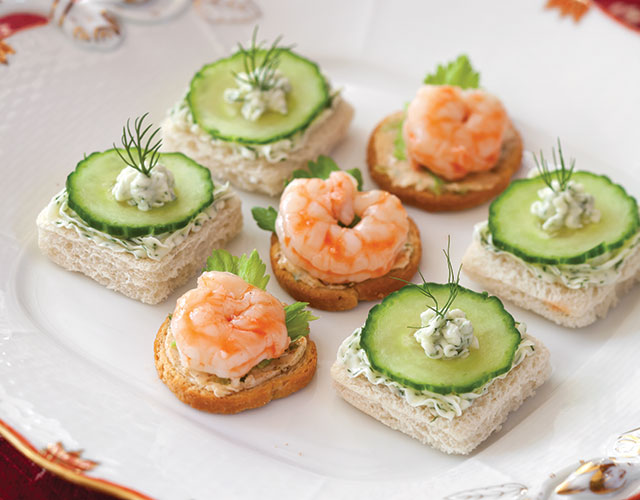 Shrimp Cocktail Canapés Recipes TeaTime Magazine - Canapes