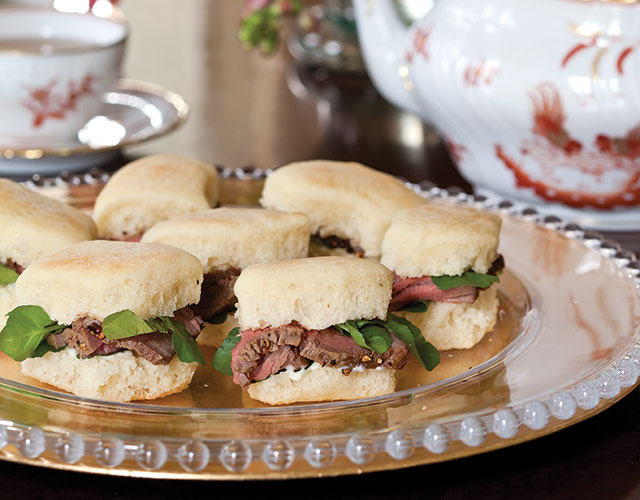 Beef au Poivre and Watercress Tea Sandwiches