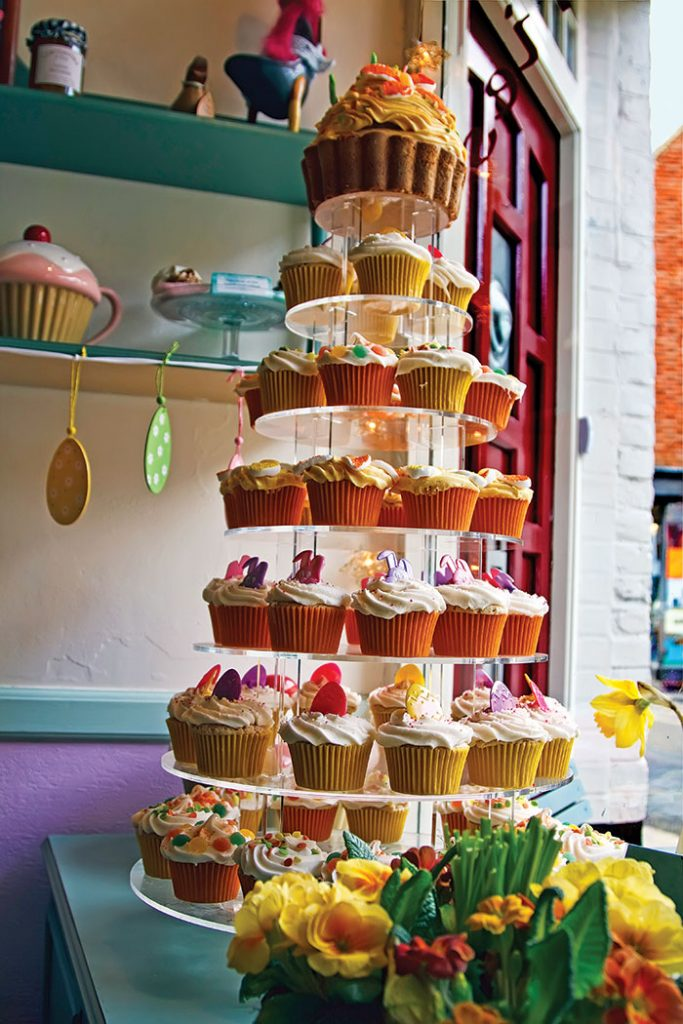 At Cranberrys of Rye, be sure to sample one of their irresistable cupcakes, known as fairy cakes in the UK.