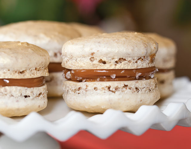 Autumn Tea Salted Caramel Macarons