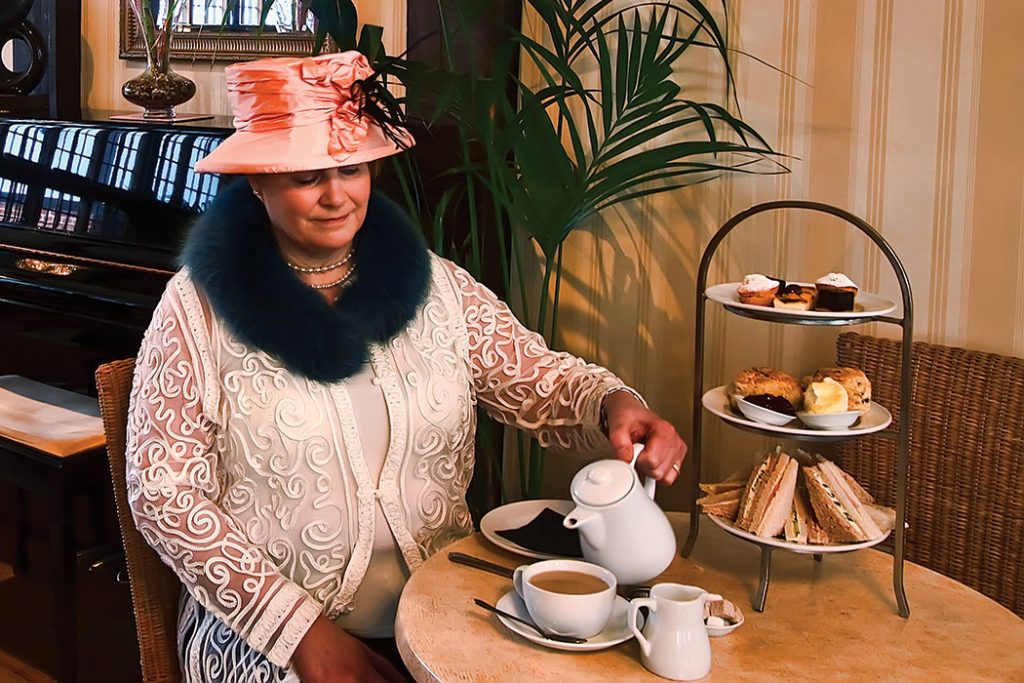 Tea at Tiny TIm's Tearoom is substantial enough to satisfy your appetite.