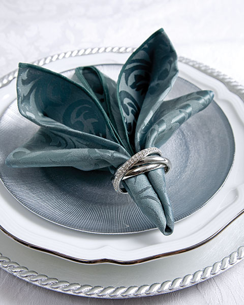 Fancy Napkin Folding With Ring