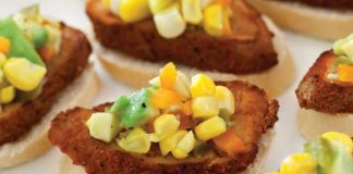 Pork-Crostini-with-Corn-Avocado-Relish