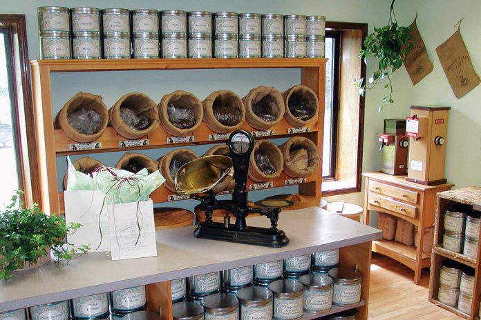 Simpson & Vail's retail shop in Brookfield, Connecticut