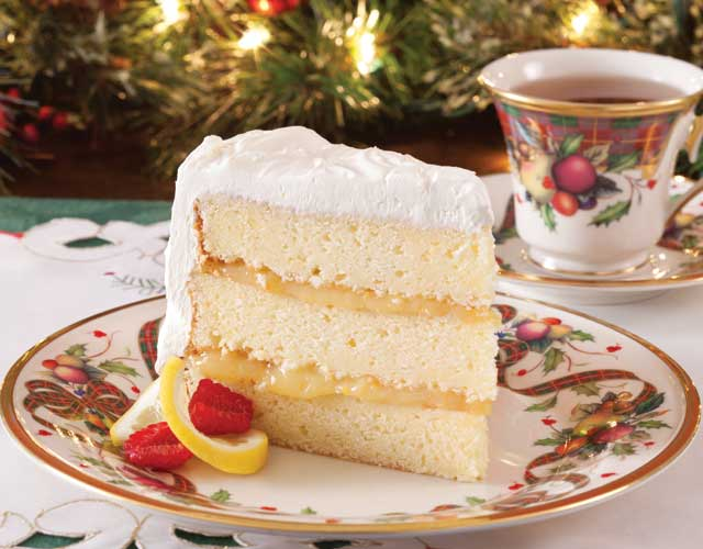 ... layers of sweet, lemony cake and an equally delicious lemon filling