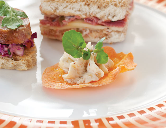 Bacon dip and sweet potato canap s teatime magazine for Sweet canape ideas