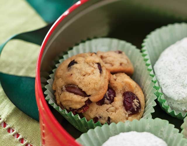 Double Chocolate-Cranberry Cookies