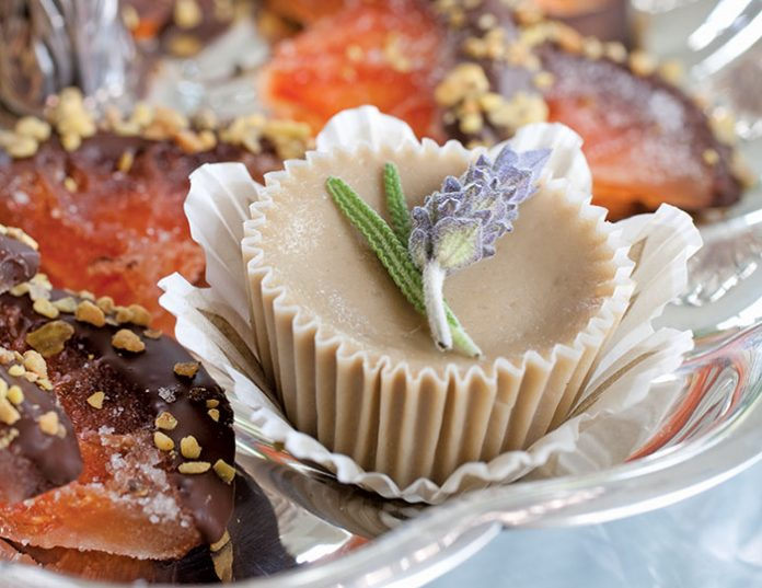 Earl Grey and Lavender-Infused Cheesecakes