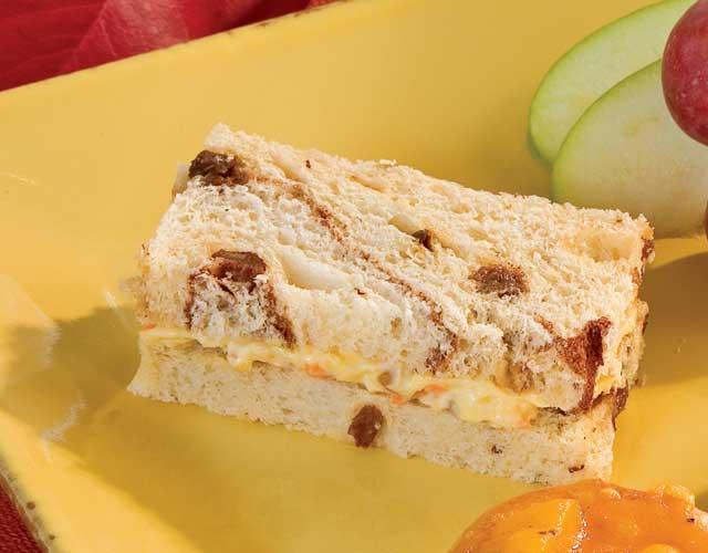 Carrot Cake Tea Sandwiches