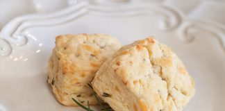 Smoked Gouda and Rosemary Scones