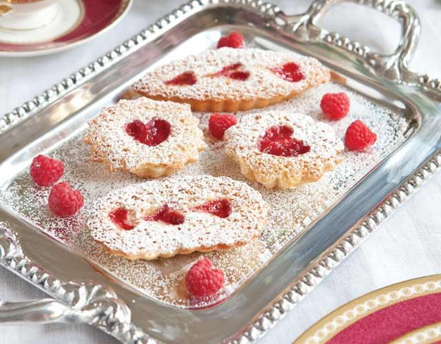 Raspberry-Almond Tea Cakes