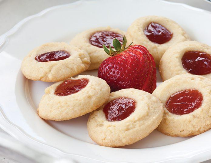strawberry-orange-thumbprint-cookies