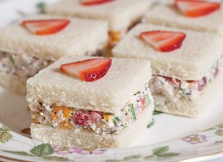 Strawberry Chicken Salad Sandwiches