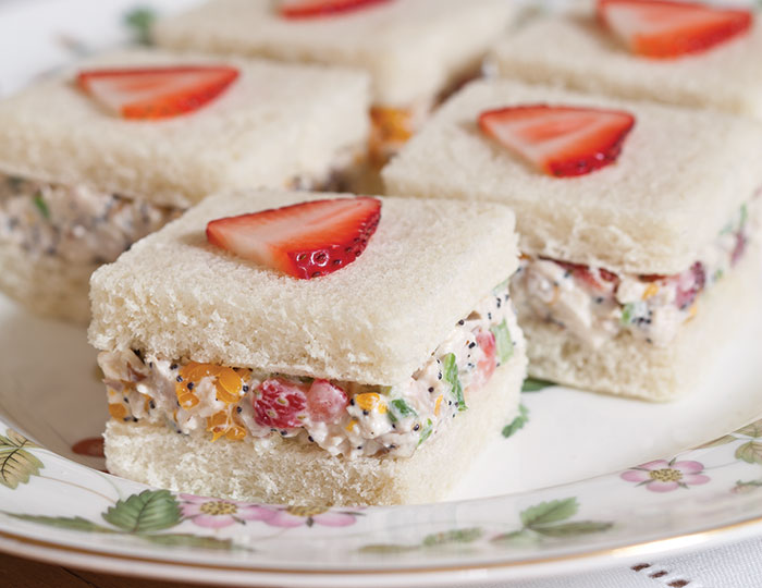 ... add a touch of sweetness to Strawberry–Chicken Salad Tea Sandwiches