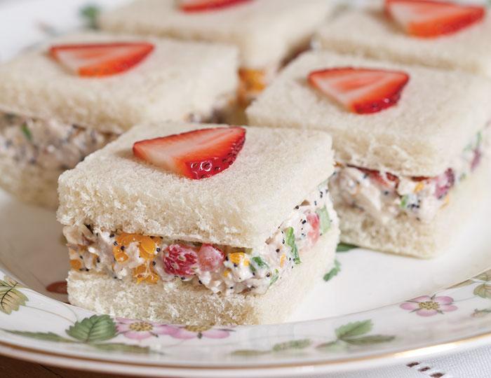 Strawberry Chicken Salad Sandwiches