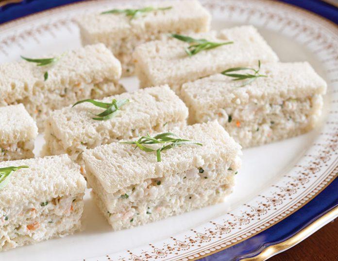 Tarragon Shrimp Salad Finger Sandwiches