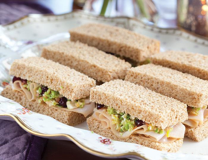 Turkey, Gouda & Apple Tea Sandwiches Recipe | Taste of Home