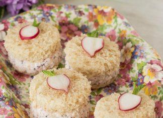 Radish-Poppyseed Tea Sandwiches