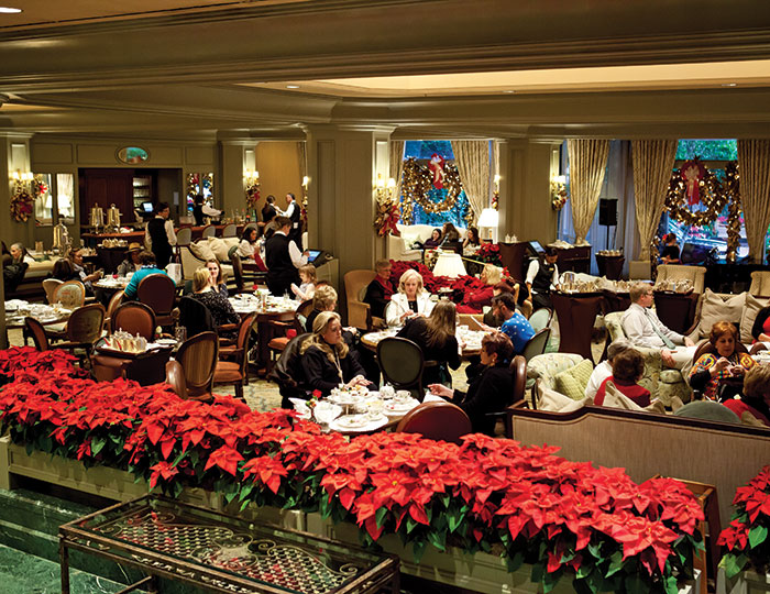 Holiday tea at the Windsor Court Hotel in New Orleans