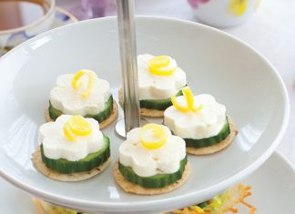 Cucumber Feta Canapes