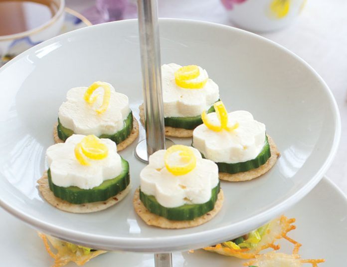 Cucumber feta canap s teatime magazine for Gluten free canape