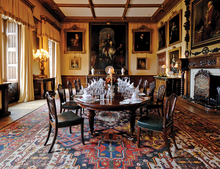 The state dining room at Highclere Castle