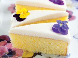 Lemon Pansy Cakes