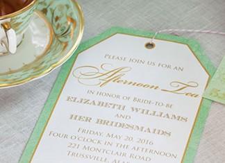Bridesmaids' Tea Invitation