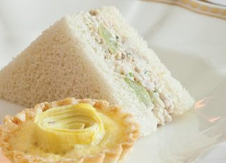 Green Grape–Chicken Salad Tea Sandwiches