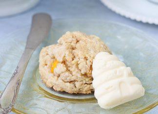Peachy Blue Cheese Scones