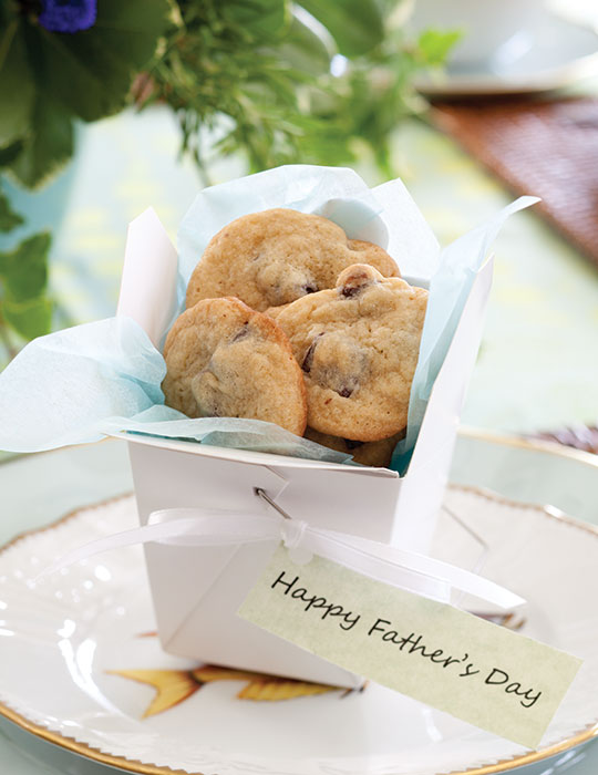 Malted Chocolate Chunk Cookies Father's Day Tea