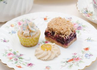 A trio of sweets from The Secret Garden tea