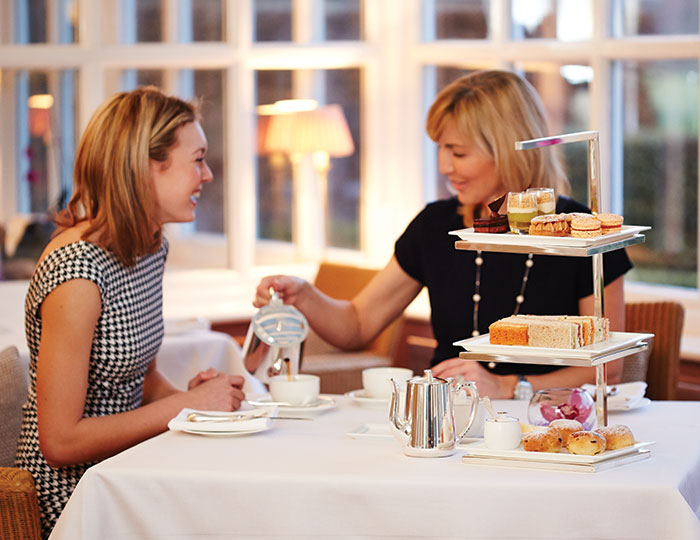 Afternoon tea at the Devonshire Arms Hotel & Spa in Yorkshire