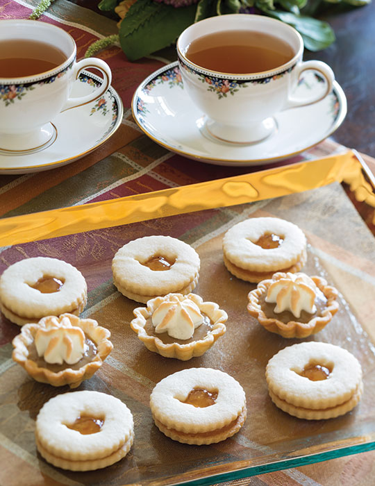 Butterscotch-Meringue Tartlets and Orange Marmalade Linzer Cookies