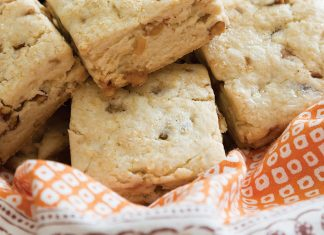 toffee pecan Autumn Scones