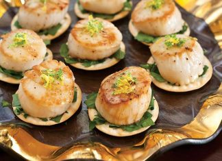 New Years Eve Lemon-Lime Scallop Canapés