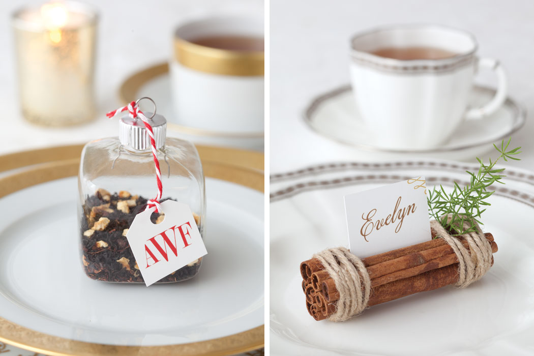 Merry TeaTime Holiday Guide Place Cards