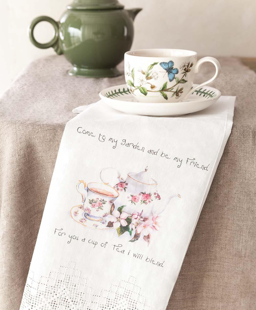 Tea Towel - Come to My Garden