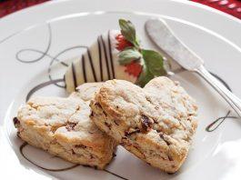 Strawberry, Lavender, and White Chocolate Scones