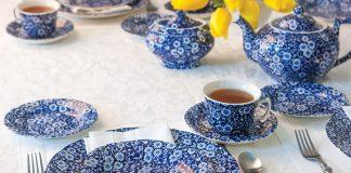 A Pretty Blue Calico Tea