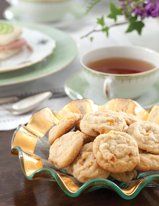 White Chocolate–Apricot Butter Cookies