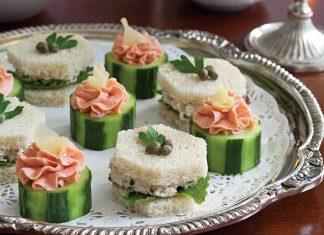Roast Chicken SaladTea Sandwiches