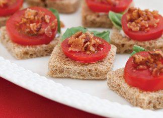 Tomato, Basil, and Bacon Canapés