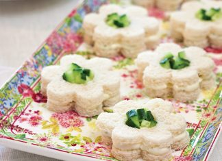 Cucumber-BoursinTea Sandwiches