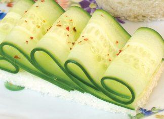 Ruffled CucumberCanapés