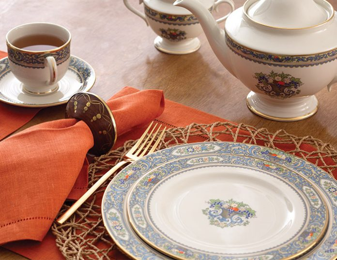 We tend to think of china patterns as two-dimensional designs presented on a flat surface such as a dinner plate. But Lenox Autumn is one of the few that ... & The Complete Table: Fruit Basket Turnover - TeaTime Magazine