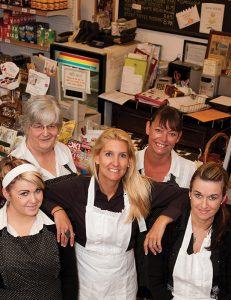 Owner Selina Stockley (center) with staff
