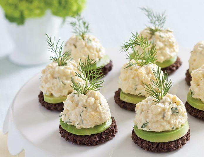 AvocadoEgg Salad Canapés TeaTime Magazine - Canapes
