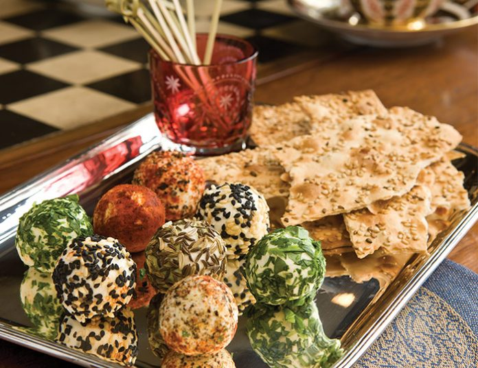 Goat Cheese Truffles on Lavash Flatbread Holiday Savories: 9 of Our Favorites