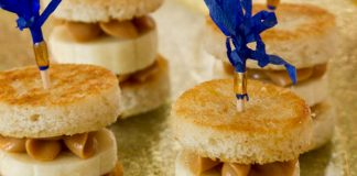"""""""That's Alright Mama"""" Grilled Peanut Butter–Banana Tea Sandwiches"""